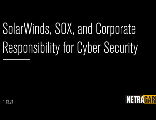 SolarWinds, SOX, and Corporate Responsibility for Cybersecurity